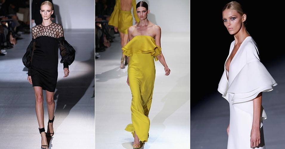 Looks da Gucci para o Verão 2013 durante a semana de moda de Milão (19/09/2012)