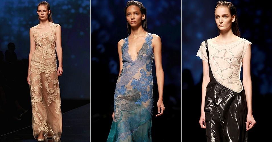 Looks de Alberta Ferretti para o Verão 2013 durante a semana de moda de Milão (19/09/2012)