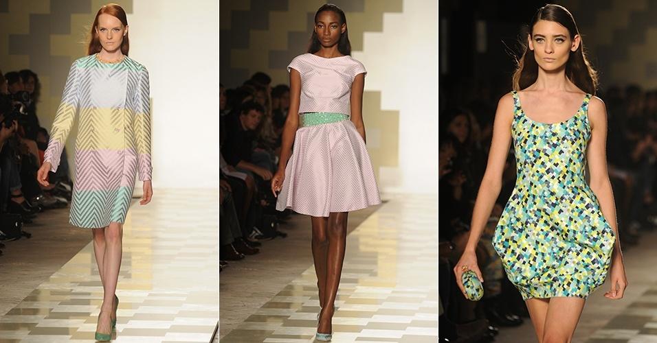 Looks de Mila Schön para o Verão 2013 durante a semana de moda de Milão (19/09/2012)