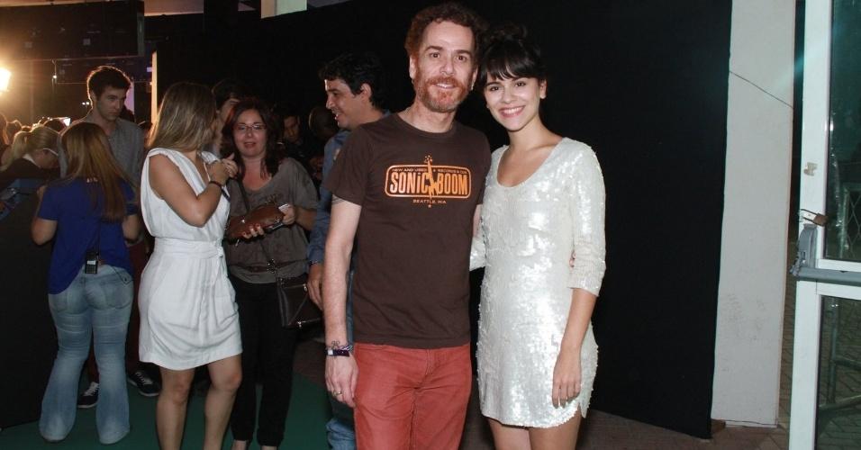 Nando e Reis e sua filha Sophia durante a festa do 19º Prêmio Multishow (18/9/12)