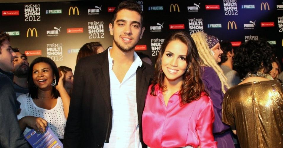 Pérola Faria e Miguel Rômulo durante a festa do 19º Prêmio Multishow (18/9/12)