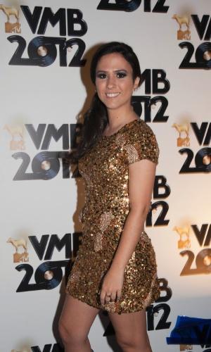 """A humorista Tatá Werneck, que apresenta o """"Trolalá MTV"""", chega ao VMB 2012, em São Paulo (20/9/12)"""