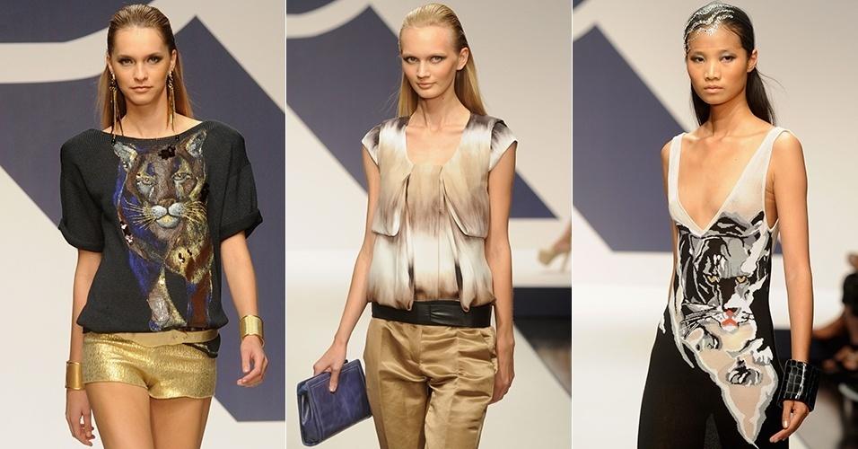 Looks de Krizia para o Verão 2013 durante a semana de moda de Milão (20/09/2012)