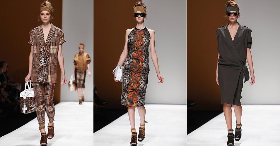 Looks de Max Mara para o Verão 2013 durante a semana de moda de Milão (20/09/2012)