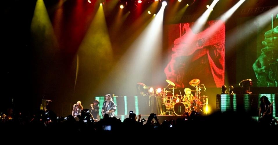 """O Scorpions, que tem 100 milhões de álbuns vendidos em mais de 40 anos de carreira, faz show da turnê """"Final Sting Tour 2012"""" em São Paulo (20/9/12)"""