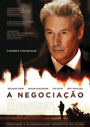 """Pôster do suspense """"A Negociação"""" com Susan Sarandon e Richard Gere (2012)"""