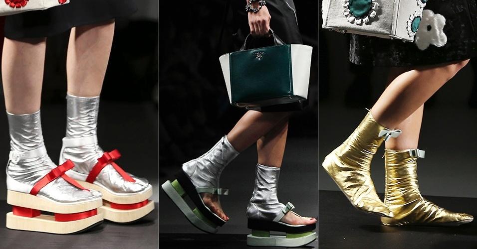 Sapatos lançados pela Prada para o Verão 2013 em Milão (20/09/2012)