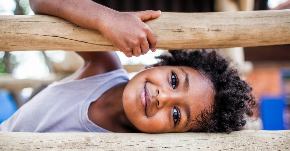 [PROIBIDO USO COMERCIAL DESTA FOTO/ AUTORIZADO SOMENTE PARA A MATÉRIA DE CRECHES] Crianças brincam no pátio da Creche/Pré-escola Oeste da USP (Universidade de São Paulo)
