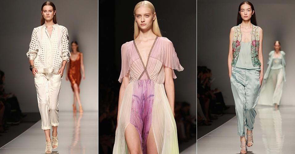 Looks de Blumarine para o Verão 2013 durante a semana de moda de Milão (21/09/2012)