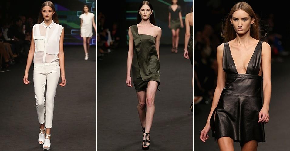 Looks de C'n'C Costume National para o Verão 2013 durante a semana de moda de Milão (21/09/2012)