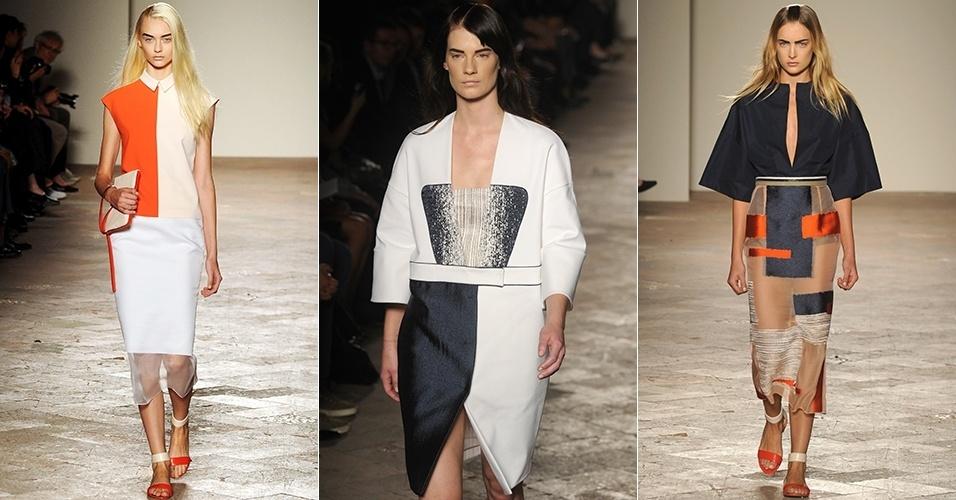 Looks de Gabriele Colangelo para o Verão 2013 durante a semana de moda de Milão (21/09/2012)