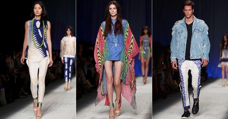 Looks de Just Cavali para o Verão 2013 durante a semana de moda de Milão (21/09/2012)