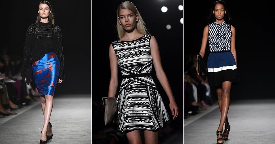 Looks de Les Copains para o Verão 2013 durante a semana de moda de Milão (20/09/2012)