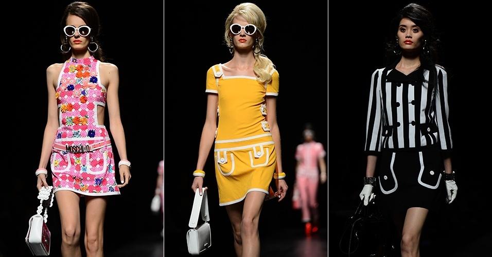 Looks de Moschino para o Verão 2013 durante a semana de moda de Milão (21/09/2012)