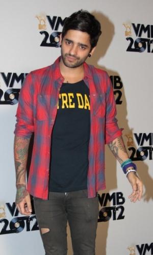 Lucas Silveira, da banda Fresno, no VMB 2012 (20/9/12)