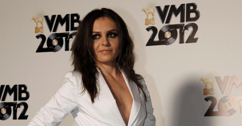 """Monica Iozzi, integrante do """"CQC"""", chega ao VMB 2012 para apresentar o prêmio de artista feminino (20/9/12)"""
