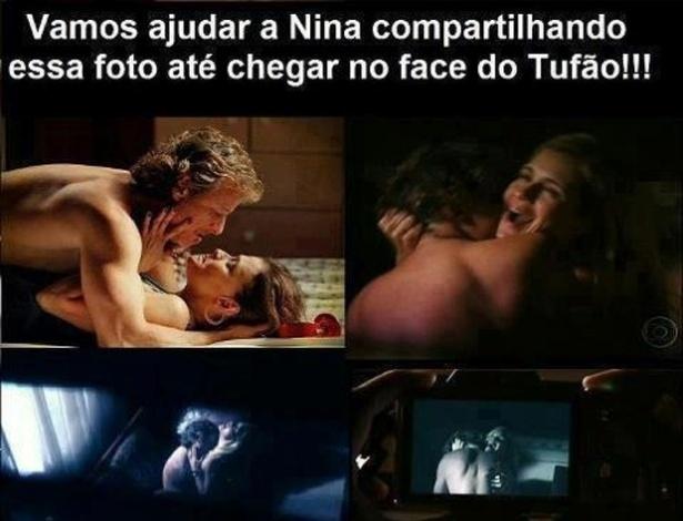 No Facebook, teve até quem quisesse ajudar Nina, de ''Avenida Brasil'', a divulgar as fotos de Carminha e Max juntos