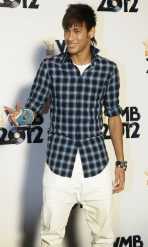 O jogador Neymar no VMB 2012 (20/9/12)