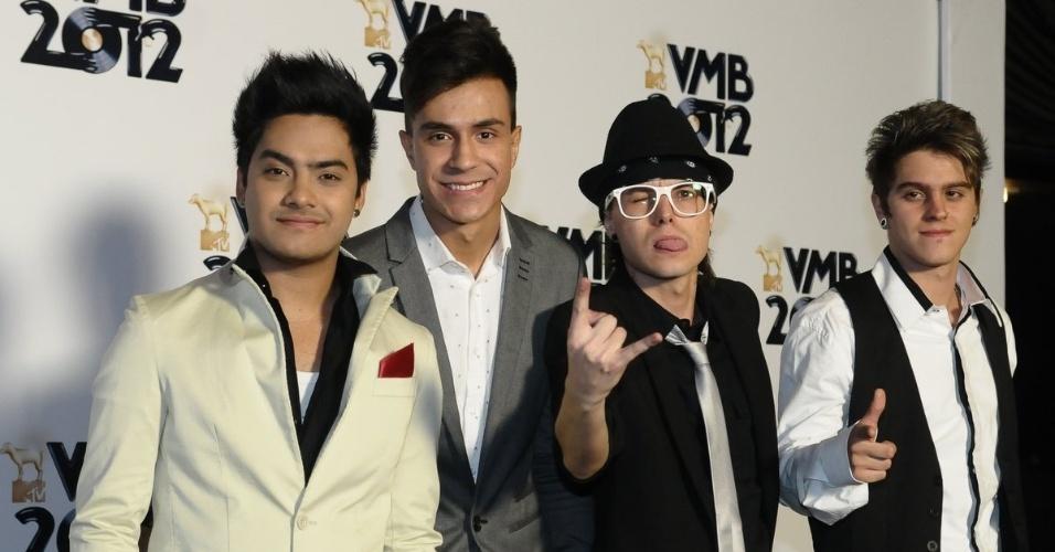 Os integrantes do grupo Restart no VMB 2012 (20/9/12)