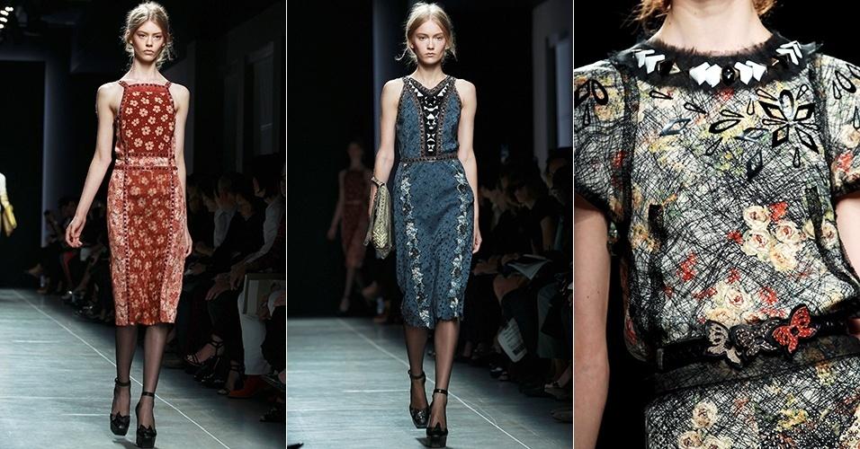 Looks de Bottega Veneta para o Verão 2013 durante a semana de moda de Milão (22/09/2012)