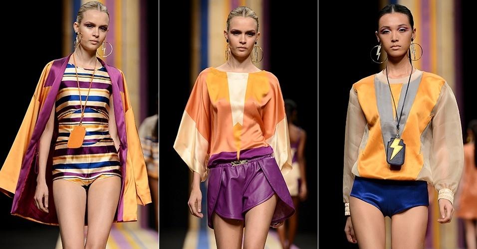 Looks de Frankie Morello para o Verão 2013 durante a semana de moda de Milão (22/09/2012)