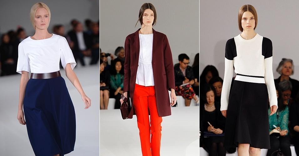 Looks de Jil Sander para o Verão 2013 durante a semana de moda de Milão (22/09/2012)
