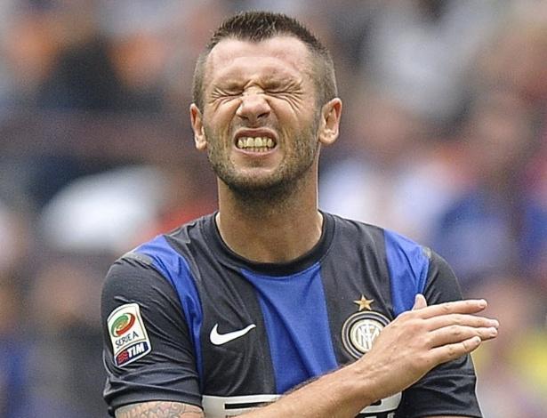 Cassano desperdiça chance durante derrota da Inter de Milão