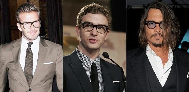 Celebridades como o jogador David Beckham, o cantor Justin Timberlake e o ator Johnny Depp mostram que usar óculos de grau pode ser um item essencial para seu estilo