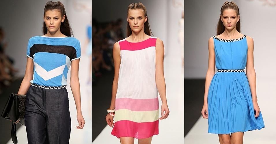 Looks de Byblos para o Verão 2013 durante a semana de moda de Milão (23/09/2012)