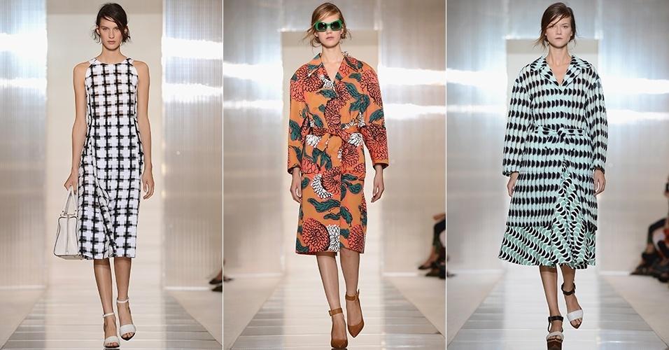 Looks de Marni para o Verão 2013 durante a semana de moda de Milão (23/09/2012)