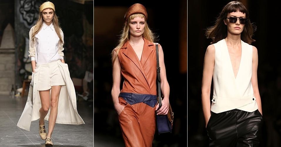 Looks de Trussardi para o Verão 2013 durante a semana de moda de Milão (23/09/2012)