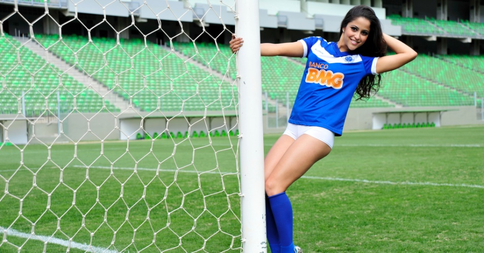 Barbara Martins, a Bela da Torcida do Cruzeiro
