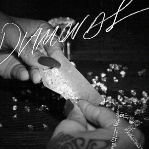 "A capa do single ""Diamonds"" mostra diamantes sendo enrolados como fumo"