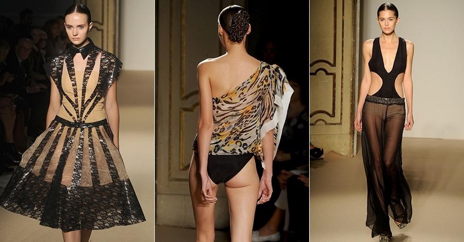 Looks de Cristiano Burani para o Verão 2013 durante a semana de moda de Milão (24/09/2012)