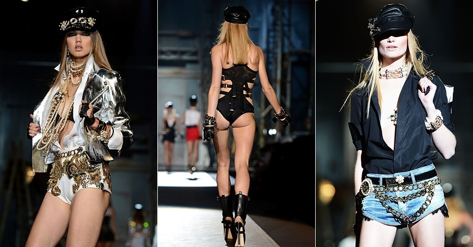 Looks de DSquared2 para o Verão 2013 durante a semana de moda de Milão (24/09/2012)