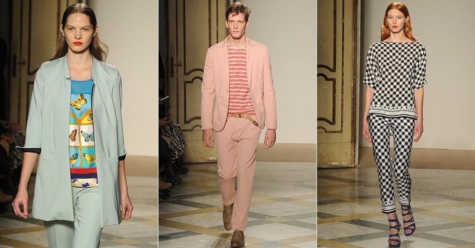 Looks de Massimo Rebecchi para o Verão 2013 durante a semana de moda de Milão (24/09/2012)