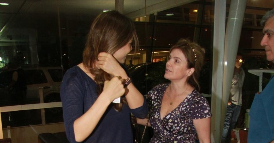 Grazi Massafera e Márcia Marbá deixam a maternidade após visitarem Angélica e Eva (25/9/12)