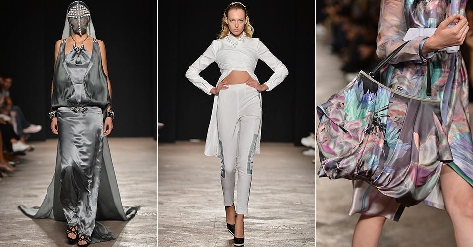 Looks de Sergei Grinko para o Verão 2013 durante a semana de moda de Milão (25/09/2012)