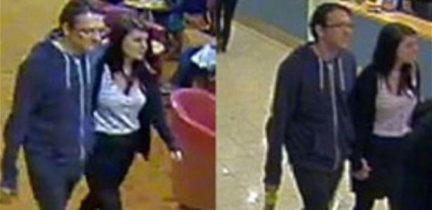Imagens divulgadas pela polícia de Sussex, na Inglaterra, na terça-feira, mostram a estudante Megan Stammers, 15, e seu professor, Jeremy Forrest, 30, na França