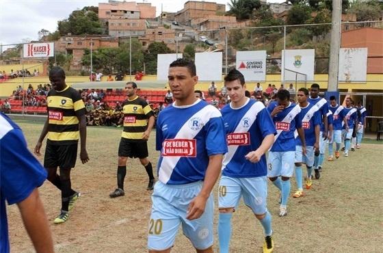 Inconfidência (de amarelo) bateu o Roma na final e foi tricampeão da Copa Kaiser 2012 de Belo Horizonte