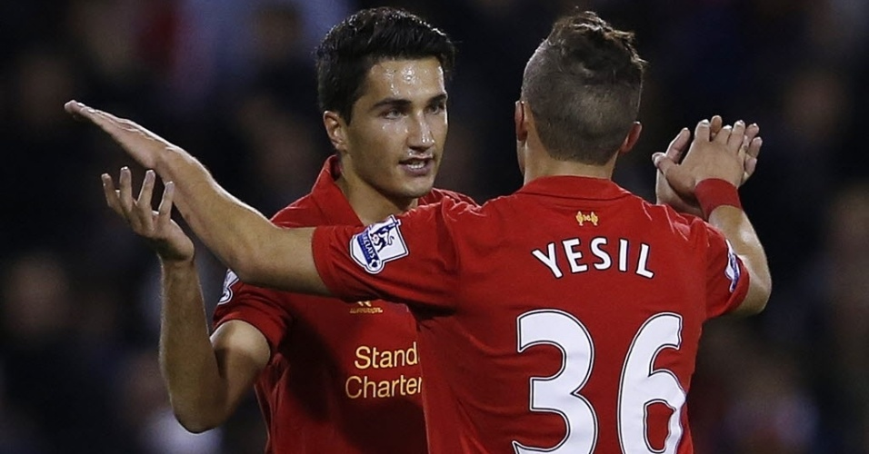 Nuri Sahin, do Liverpool, marcou duas vezes contra o West Brom e garantiu a classificação do Liverpool para as oitavas de final da Copa da Liga Inglesa