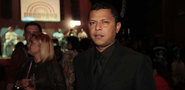 O presidente da Gaviões da Fiel, Antônio Alan Souza Silva, o Donizete, no evento em São Paulo (25/9/12)