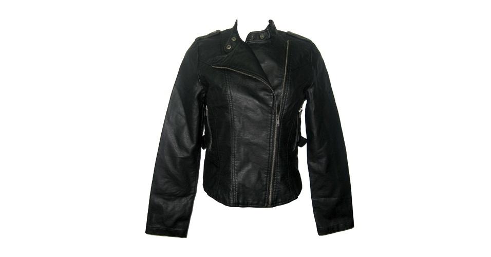 Jaqueta estilo perfecto de couro sintético; R$ 179,99, na Leader (www.leader.com.br). Preço pesquisado em setembro de 2012 e sujeito a alterações