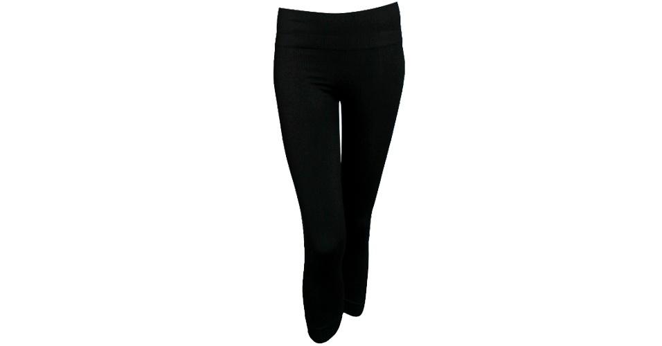 Legging preta básica; R$ 86, na Plié (www.plie.com.br). Preço pesquisado em setembro de 2012 e sujeito a alterações