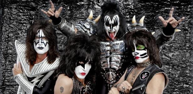 Tommy Thayer, Paul Stanley, Gene Simmons e Eric Singer, da banda Kiss