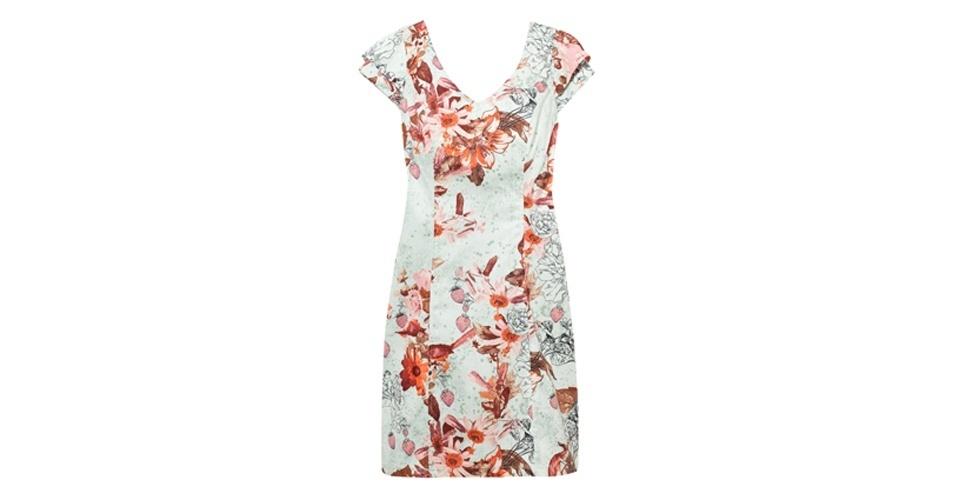 Vestido com estampa floral; R$ 231, na Antix (www.amoantix.com.br). Preço pesquisado em setembro de 2012 e sujeito a alterações