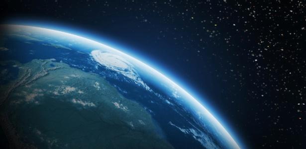 Vista do espaço da Terra