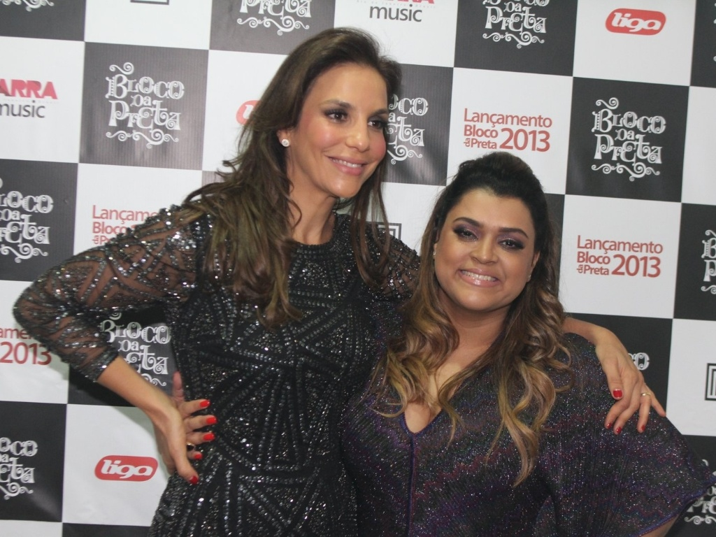 Ivete Sangalo foi a convidada especial do Bloco da Preta, show de Preta Gil, que aconteceu no Barra Music, no Rio de Janeiro (27/9/12)