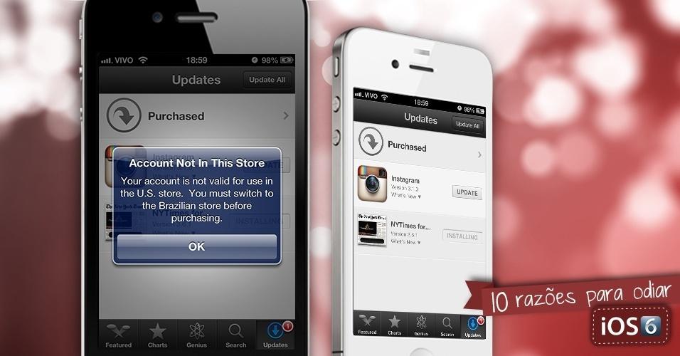 Razões para odiar o sistema iOS 6