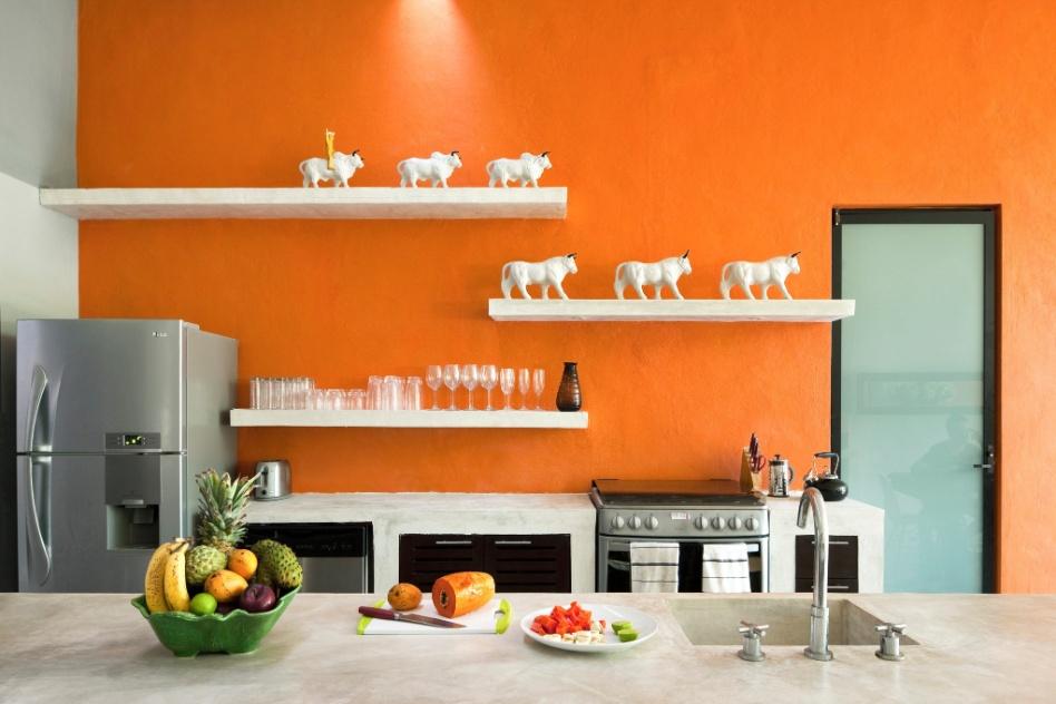 Orange Kitchen Walls Orange Kitchens Colorful Kitchens Orange Walls